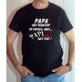 T-shirt Humour : Papa sait beaucoup de choses mais Papi sait tout - Tee-shirt noir homme