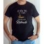 T-shirt Humour : Pas le temps, je suis à la retraite (Avec pêcheur) - Tee-shirt noir homme