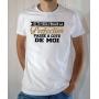 T-shirt Humour : Si tu veux frôler la perfection, passe à côté de moi - Tee-shirt homme blanc