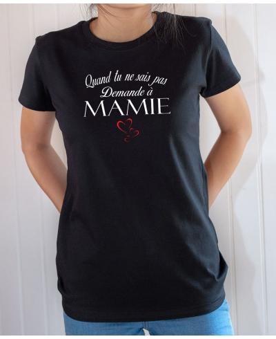 T-shirt humour : Demande à Mamie