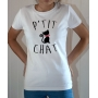T-shirt Humour : P'tit Chat - Tee-shirt blanc
