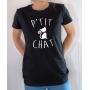 T-shirt Humour : P'tit Chat - Tee-shirt noir